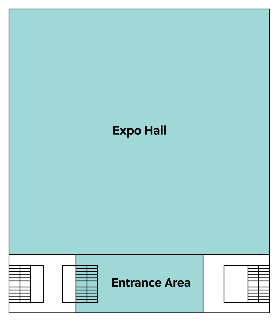 BMCC Brugge niveau 1: grondplan expo inkom hal