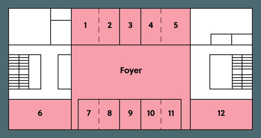 BMCC Brugge niveau 3 grondplan: vergaderzalen