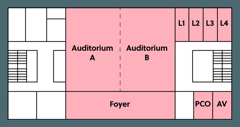 plattegrond BMCC eerste verdieping